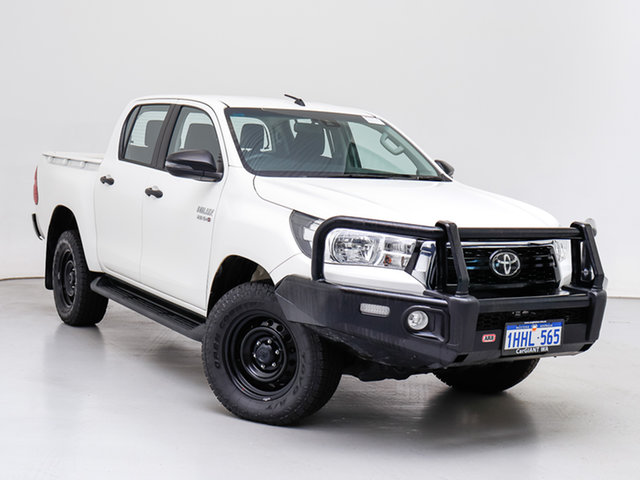 Used Toyota Hilux GUN126R MY19 Upgrade SR (4x4), 2020 Toyota Hilux GUN126R MY19 Upgrade SR (4x4) White 6 Speed Automatic Double Cab Pick Up