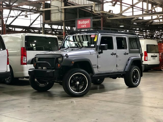 Used Jeep Wrangler JK MY2014 Unlimited Sport Mile End South, 2014 Jeep Wrangler JK MY2014 Unlimited Sport Silver 5 Speed Automatic Softtop