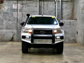 2017 Toyota Hilux GGN125R SR Double Cab White 6 Speed Sports Automatic Utility.