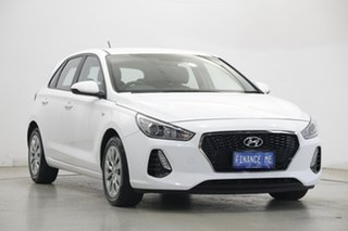 2018 Hyundai i30 PD MY18 Go Polar White 6 Speed Sports Automatic Hatchback.