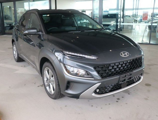 New Hyundai Kona Os.v4 MY21 Elite 2WD Augustine Heights, 2021 Hyundai Kona Os.v4 MY21 Elite 2WD Dark Knight 8 Speed Constant Variable Wagon