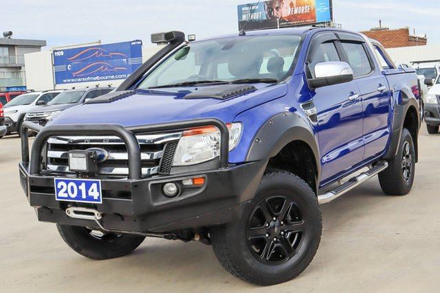 Used Ford Ranger PX XLT Double Cab Coburg North, 2014 Ford Ranger PX XLT Double Cab Blue 6 Speed Sports Automatic Utility