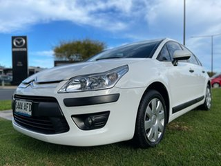 2009 Citroen C4 HDi EGS White 6 Speed Sports Automatic Single Clutch Hatchback.