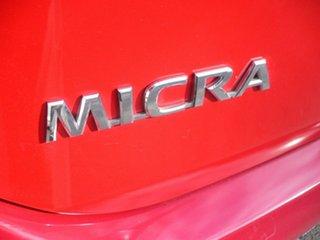 2012 Nissan Micra K13 MY13 ST Burgundy 4 Speed Automatic Hatchback