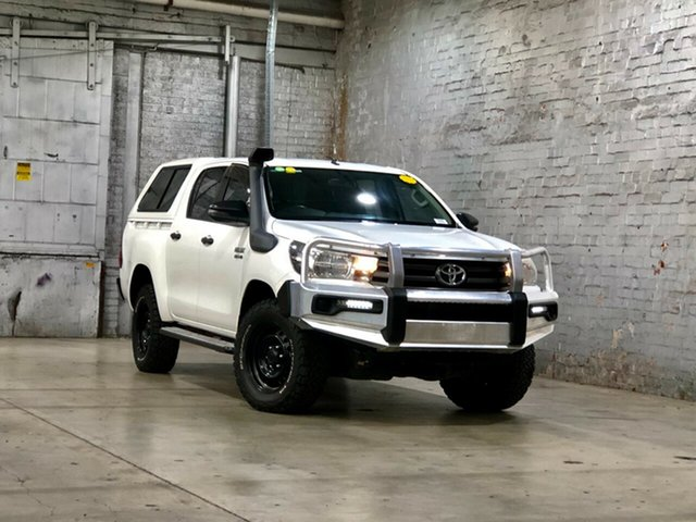 Used Toyota Hilux GGN125R SR Double Cab Mile End South, 2017 Toyota Hilux GGN125R SR Double Cab White 6 Speed Sports Automatic Utility