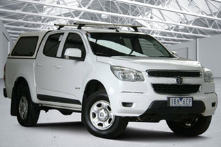 2014 Holden Colorado RG MY15 LS (4x2) Summit White 6 Speed Automatic Crew Cab Pickup.