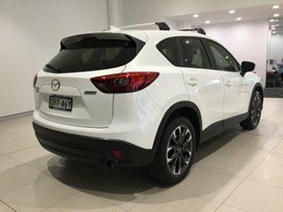 2016 Mazda CX-5 KE1032 Grand Touring SKYACTIV-Drive AWD Crystal White Pearl 6 Speed Sports Automatic.