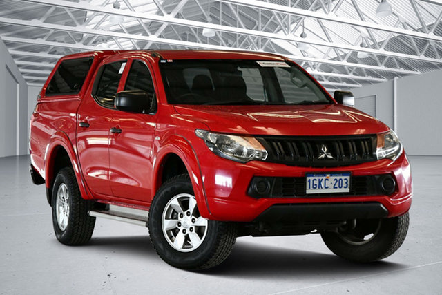 Used Mitsubishi Triton MQ MY17 GLX Plus (4x4) Perth Airport, 2017 Mitsubishi Triton MQ MY17 GLX Plus (4x4) Rose Red 5 Speed Automatic Club Cab Pickup