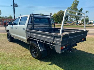 2012 Toyota Hilux KUN26R MY12 Workmate Double Cab Silver 5 Speed Manual Utility