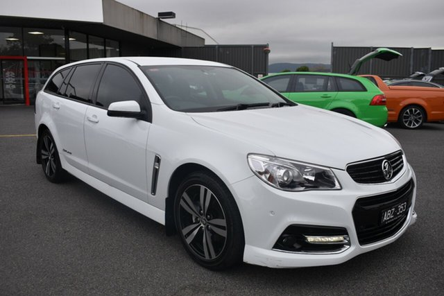 Used Holden Commodore VF MY15 SV6 Sportwagon Storm Wantirna South, 2015 Holden Commodore VF MY15 SV6 Sportwagon Storm White 6 Speed Sports Automatic Wagon