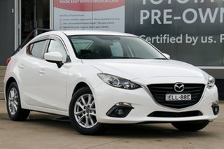 2015 Mazda 3 BM Touring White 6 Speed Automatic Sedan.