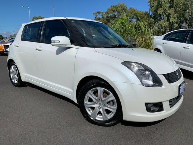 Used Suzuki Swift RS415 RE4 Bunbury, 2009 Suzuki Swift RS415 RE4 White 5 Speed Manual Hatchback