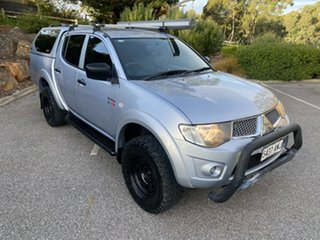 2013 Mitsubishi Triton MN MY13 GLX Double Cab 4x2 Silver 5 Speed Manual Utility