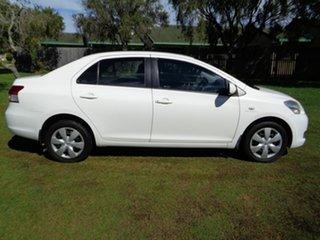 2006 Toyota Yaris NCP93R YRS White 5 Speed Manual Sedan.