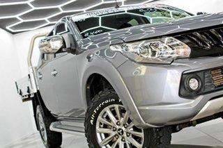 2017 Mitsubishi Triton MQ MY18 GLS (4x4) Grey 5 Speed Automatic Dual Cab Utility.