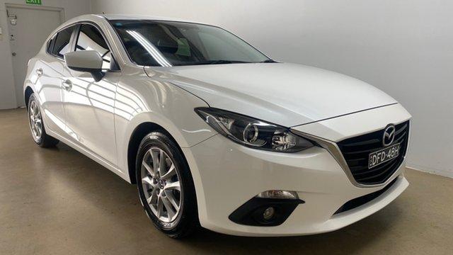 Used Mazda 3 BM MY15 Touring Phillip, 2016 Mazda 3 BM MY15 Touring White 6 Speed Manual Hatchback
