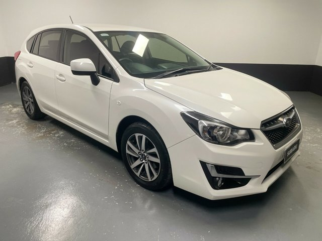 Used Subaru Impreza G4 MY16 2.0i Lineartronic AWD Premium Hamilton, 2016 Subaru Impreza G4 MY16 2.0i Lineartronic AWD Premium White 6 Speed Constant Variable Hatchback