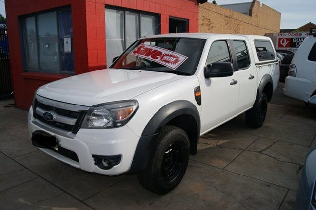 Used Ford Ranger PK XL Hi-Rider (4x2) Blair Athol, 2010 Ford Ranger PK XL Hi-Rider (4x2) White 5 Speed Automatic Dual Cab Pick-up