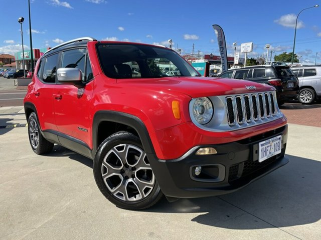 Used Jeep Renegade BU MY16 Limited DDCT Victoria Park, 2015 Jeep Renegade BU MY16 Limited DDCT Red 6 Speed Sports Automatic Dual Clutch Hatchback