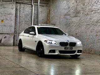 2013 BMW 5 Series F10 LCI 528i Steptronic Luxury Line White 8 Speed Sports Automatic Sedan.