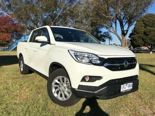2020 Ssangyong Musso Q200S MY20 ELX White 6 Speed Automatic Dual Cab Utility.