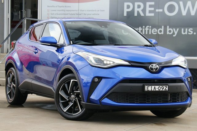 Pre-Owned Toyota C-HR NGX50R Koba S-CVT AWD Guildford, 2020 Toyota C-HR NGX50R Koba S-CVT AWD Nebula Blue 7 Speed Constant Variable Wagon