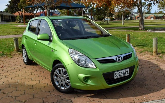Used Hyundai i20 PB MY12 Active Ingle Farm, 2012 Hyundai i20 PB MY12 Active Green 4 Speed Automatic Hatchback