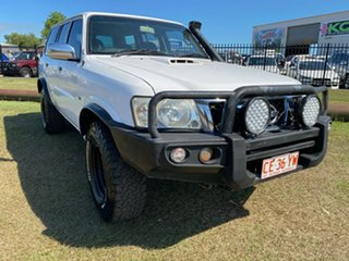 2006 Nissan Patrol GU IV MY05 DX White 5 Speed Manual Wagon.