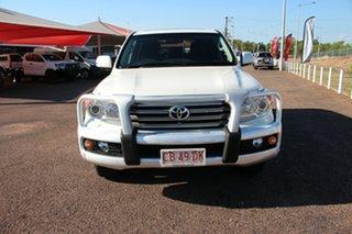 2014 Toyota Landcruiser VDJ200R MY13 Sahara Crystal Pearl 6 Speed Sports Automatic Wagon.