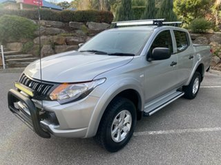 2016 Mitsubishi Triton MQ MY16 GLX+ Double Cab Silver 5 Speed Sports Automatic Utility