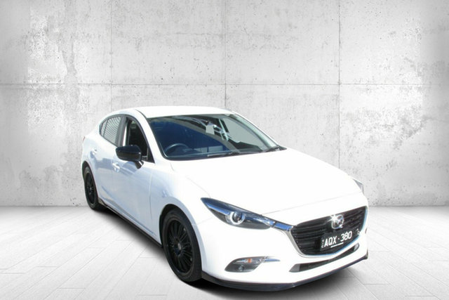 Used Mazda 3 BN5238 SP25 SKYACTIV-Drive GT Bendigo, 2017 Mazda 3 BN5238 SP25 SKYACTIV-Drive GT White 6 Speed Sports Automatic Sedan