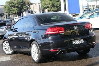 2013 Volkswagen EOS 1F MY13.5 155TSI DSG Black 6 Speed Sports Automatic Dual Clutch Convertible.