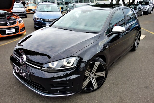 Used Volkswagen Golf VII MY15 R DSG 4MOTION Seaford, 2014 Volkswagen Golf VII MY15 R DSG 4MOTION Black 6 Speed Sports Automatic Dual Clutch Hatchback