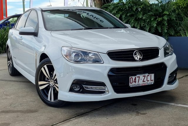 Used Holden Commodore VF MY15 SV6 Storm Beaudesert, 2015 Holden Commodore VF MY15 SV6 Storm White 6 Speed Automatic Sedan
