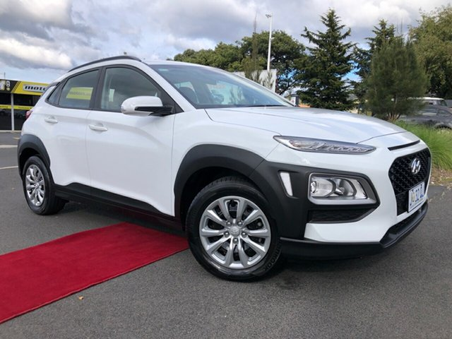 Used Hyundai Kona OS.2 MY19 Go 2WD Glenorchy, 2019 Hyundai Kona OS.2 MY19 Go 2WD White 6 Speed Sports Automatic Wagon