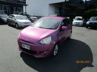 2013 Mitsubishi Mirage LA Sport Pink Continuous Variable Hatchback.