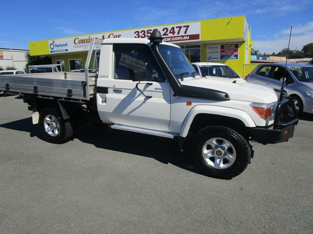 Used Toyota Landcruiser VDJ79R MY10 Workmate Kedron, 2010 Toyota Landcruiser VDJ79R MY10 Workmate White 5 Speed Manual Cab Chassis