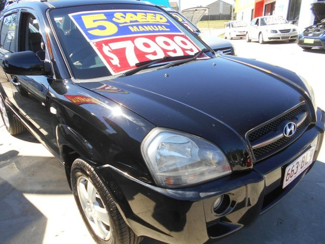 Used Hyundai Tucson JM MY07 City SX Springwood, 2007 Hyundai Tucson JM MY07 City SX Black 5 Speed Manual Wagon