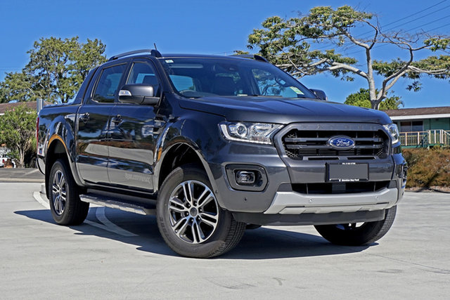 Used Ford Ranger PX MkIII 2021.25MY Wildtrak Springwood, 2020 Ford Ranger PX MkIII 2021.25MY Wildtrak Grey 6 Speed Sports Automatic Double Cab Pick Up