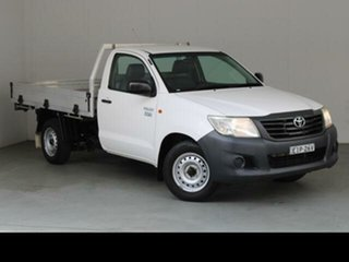 2014 Toyota Hilux TGN16R MY14 Workmate Glacier White 4 Speed Automatic Cab Chassis.