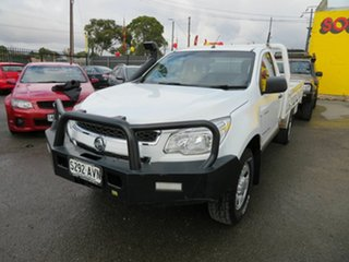 2012 Holden Colorado RG DX (4x4) White 5 Speed Manual Cab Chassis.