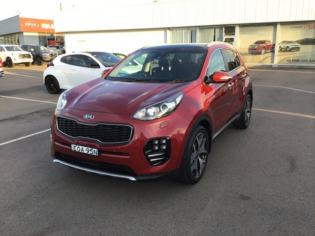 Pre-Owned Kia Sportage QL MY16 Platinum AWD Cardiff, 2016 Kia Sportage QL MY16 Platinum AWD Red 6 Speed Sports Automatic Wagon