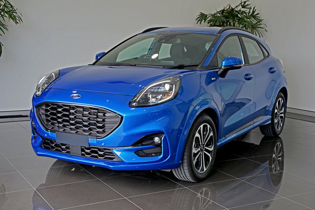 Used Ford Puma JK 2020.75MY ST-Line Springwood, 2020 Ford Puma JK 2020.75MY ST-Line Blue 7 Speed Sports Automatic Dual Clutch Wagon