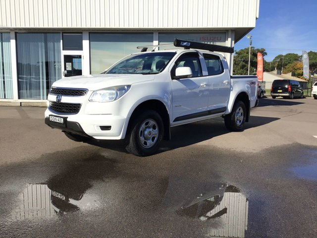 Pre-Owned Holden Colorado RG MY14 LX Crew Cab Cardiff, 2014 Holden Colorado RG MY14 LX Crew Cab White 6 Speed Sports Automatic Cab Chassis