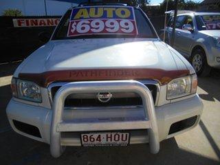 2004 Nissan Pathfinder WX II MY2003 ST White 4 Speed Automatic Wagon.