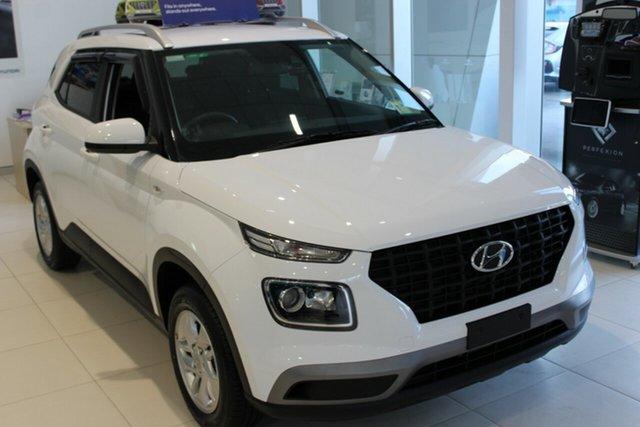 New Hyundai Venue QX.V3 MY21 Cardiff, 2021 Hyundai Venue QX.V3 MY21 Polar White 6 Speed Automatic Wagon