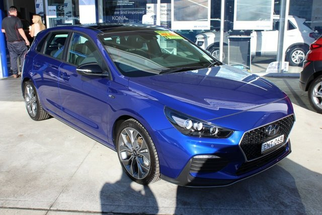 Demo Hyundai i30 PD.V4 MY21 N Line D-CT Premium Cardiff, 2020 Hyundai i30 PD.V4 MY21 N Line D-CT Premium Intense Blue 7 Speed Sports Automatic Dual Clutch