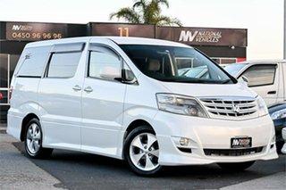 2006 Toyota Alphard ANH10W AS Platinum White 4 Speed Automatic Van.