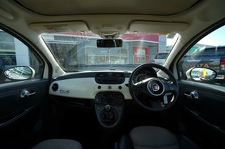 2012 Fiat 500 Twin Air Lounge White 5 Speed Manual Convertible