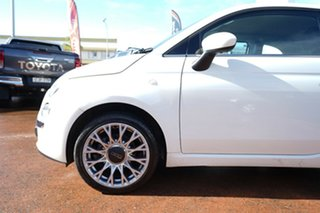 2012 Fiat 500 Twin Air Lounge White 5 Speed Manual Convertible.
